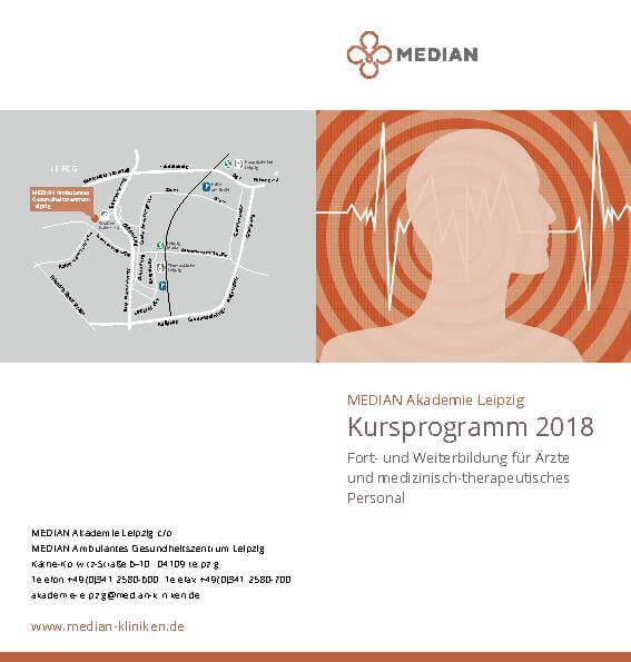 Infoflyer Kursprogramm 2018 des MEDIAN Ambulantes Gesundheitszentrum Leipzig