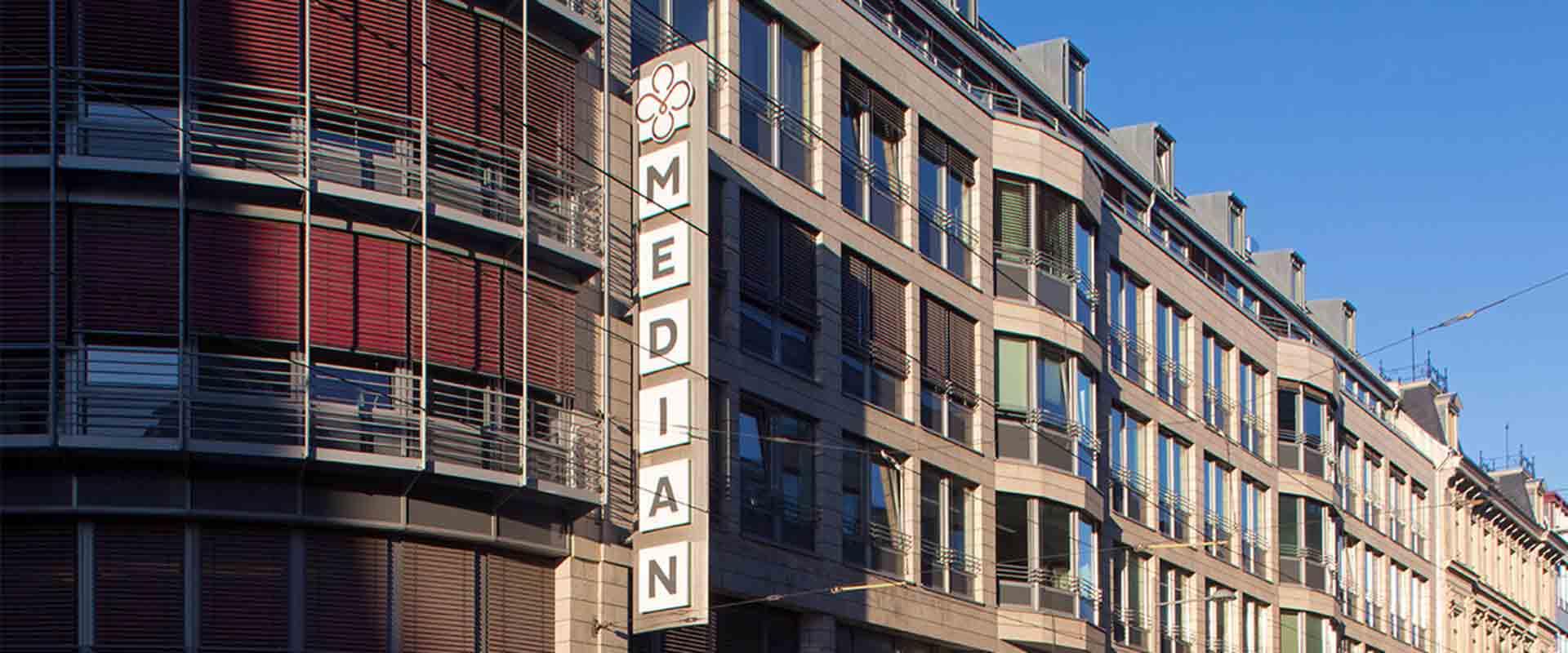 Fassade des MEDIAN Ambulantes Gesundheitszentrum Leipzig