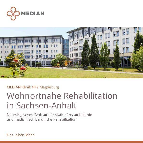 Infoflyer Kliniküberblick der MEDIAN Klinik NRZ Magdeburg