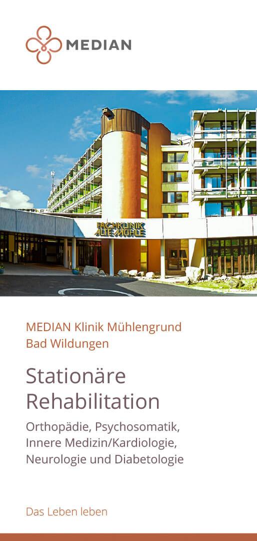 Infobroschüre Kliniküberblick der MEDIAN Klinik Mühlengrund Bad Wildungen