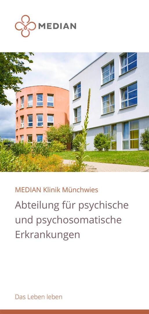 Infoflyer zur Abteilung für psychische und psychosomatische Erkrankungen der MEDIAN Klinik Münchwies