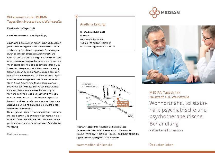 Infobroschüre Kliniküberblick der MEDIAN Tagesklinik Neustadt an der Weinstraße