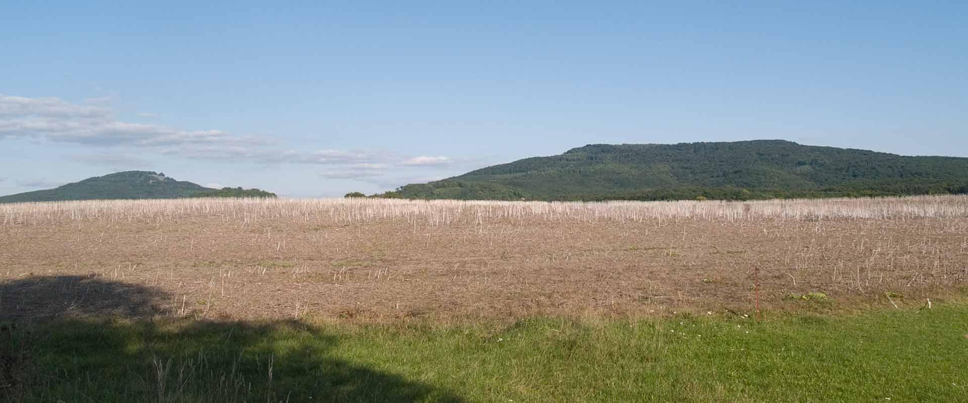 Acker und Hügel in der Nähe der MEDIAN Klinik Römhild