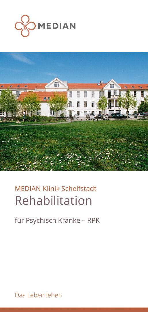 Flyer zur Rehabilitation für psychisch Kranke der MEDIAN Klinik Schelfstadt