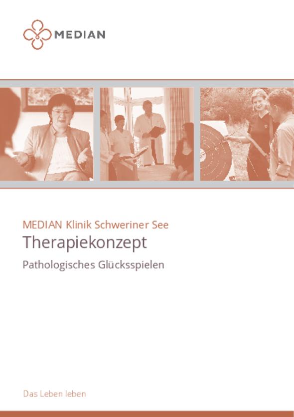 Flyer Therapiekonzept Pathologisches Glücksspiel der MEDIAN Klinik Schwerin