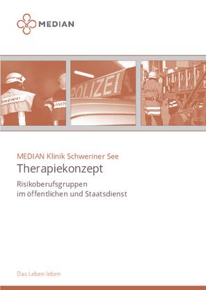 Infoflyer Therapiekonzept für Risikoberufsgruppen der MEDIAN Klinik Schweriner See