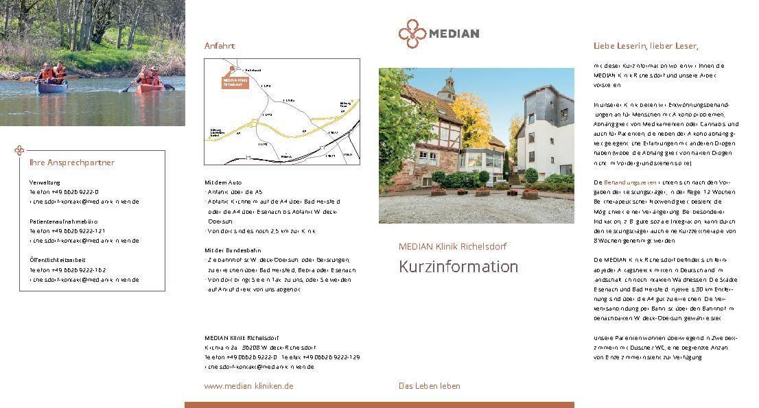 Kliniküberblick Informationen über unsere Klinik und unsere Angebote der MEDIAN Klinik Richelsdorf