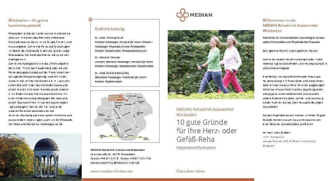 Infobroschüre Abteilung Kardiologie der MEDIAN Rehaklinik Aukammtal Wiesbaden