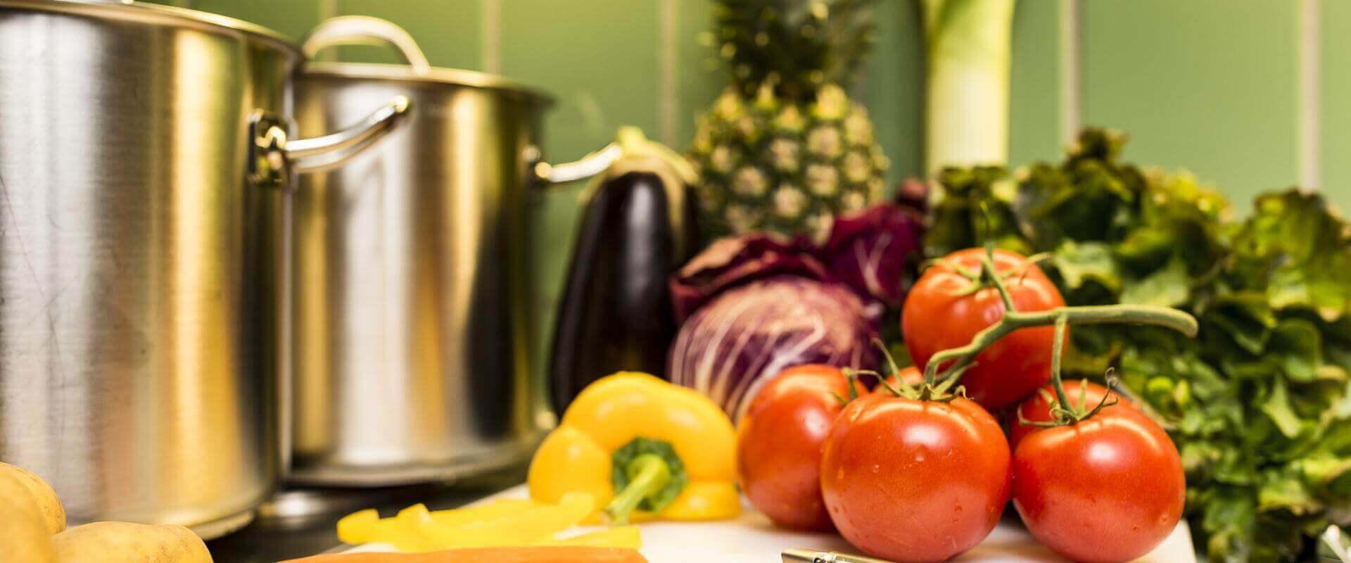 Gemüse in der Küche der MEDIAN Klinik Bad Tennstedt