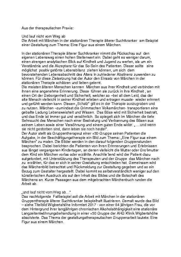 Infotext Märchen in der Therapie der MEDIAN Klinik Wigbertshöhe