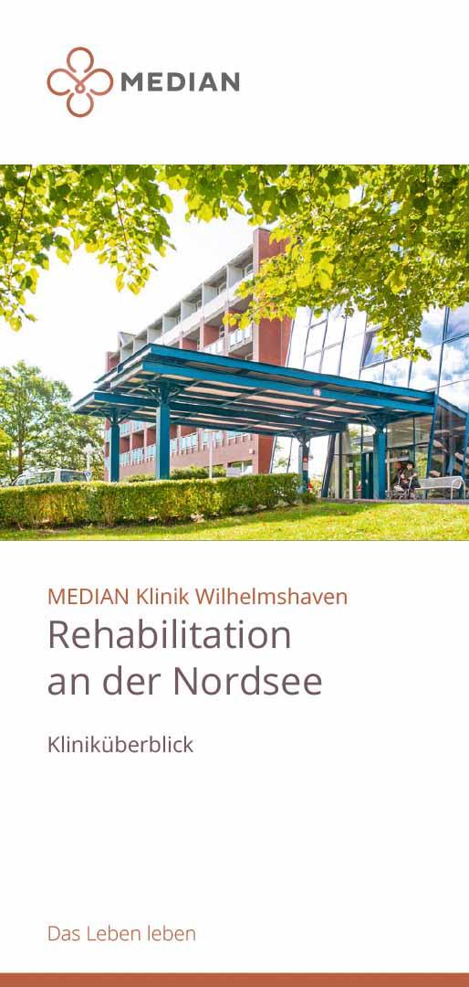 Flyer zum Kliniküberblick der MEDIAN Klinik Wilhelmshaven