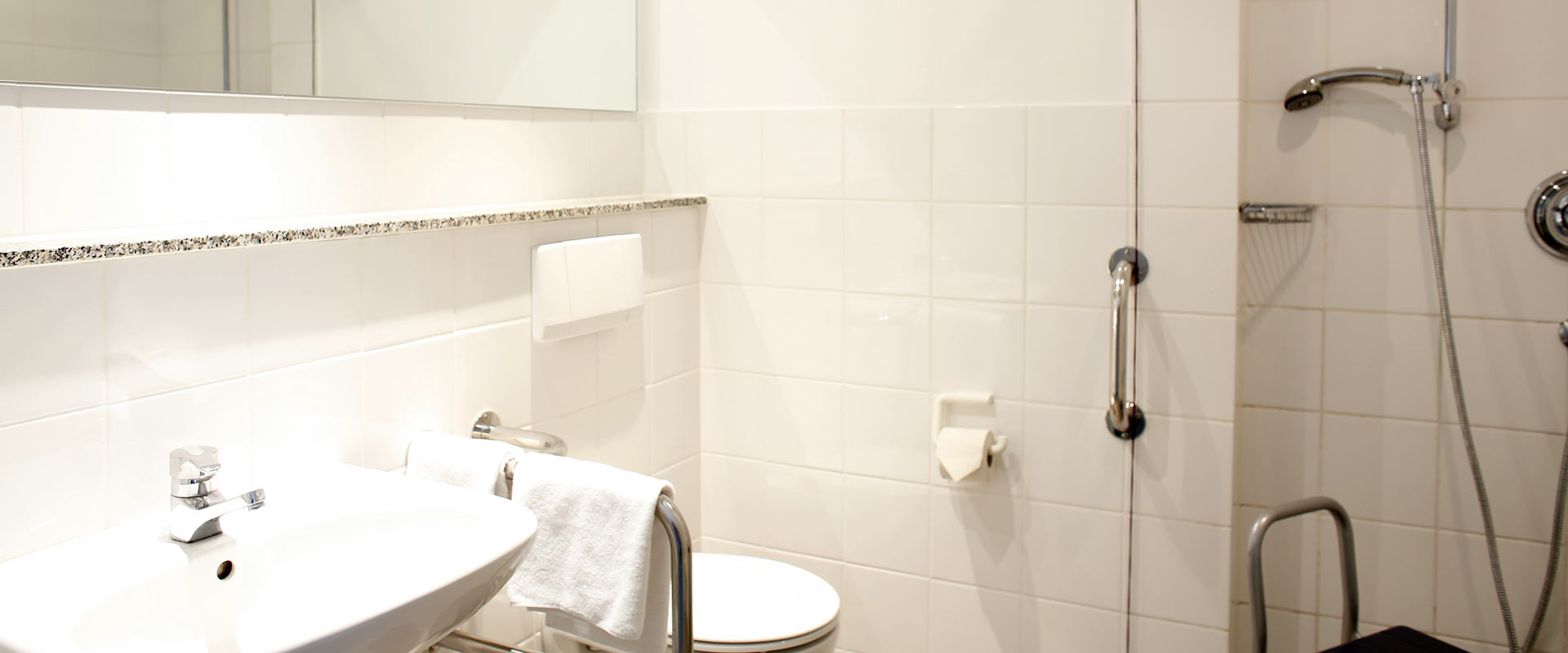 Badezimmer in der MEDIAN Klinik Wilhelmshaven