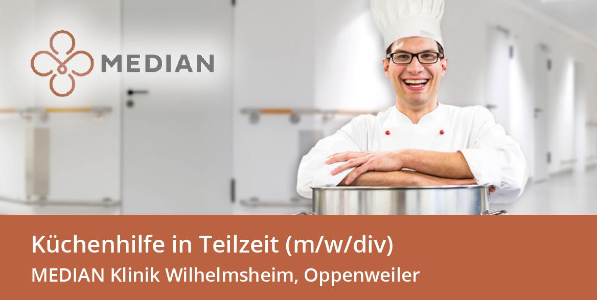 Infomaterial zum Stellenangebot als Küchenhilfe in der MEDIAN Klinik Wilhelmsheim