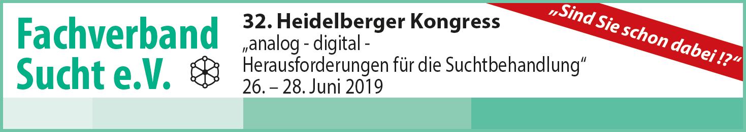 """""""Sind Sie schon dabei !?"""" 32. Heidelberger Kongress - 26. – 28. Juni 2019"""