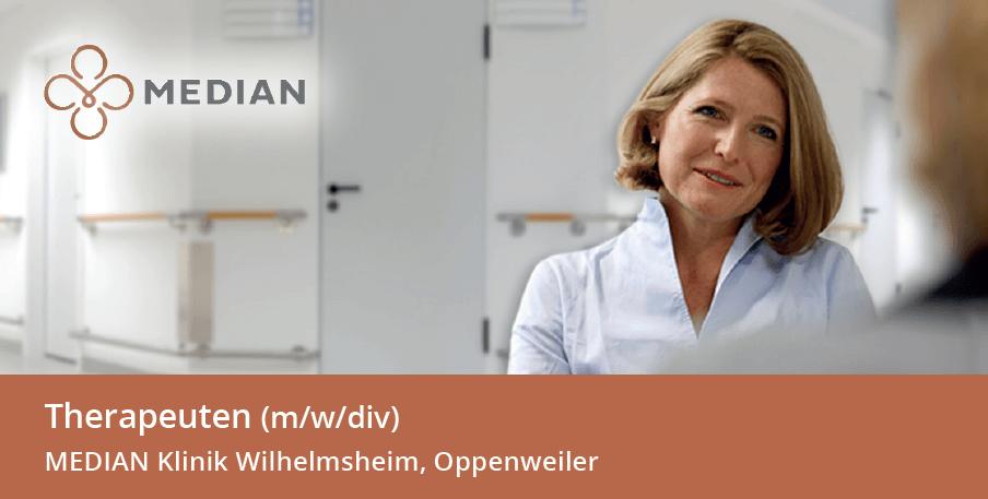 Stellenangebot Therapeuten der MEDIAN Klinik Wilhelmsheim