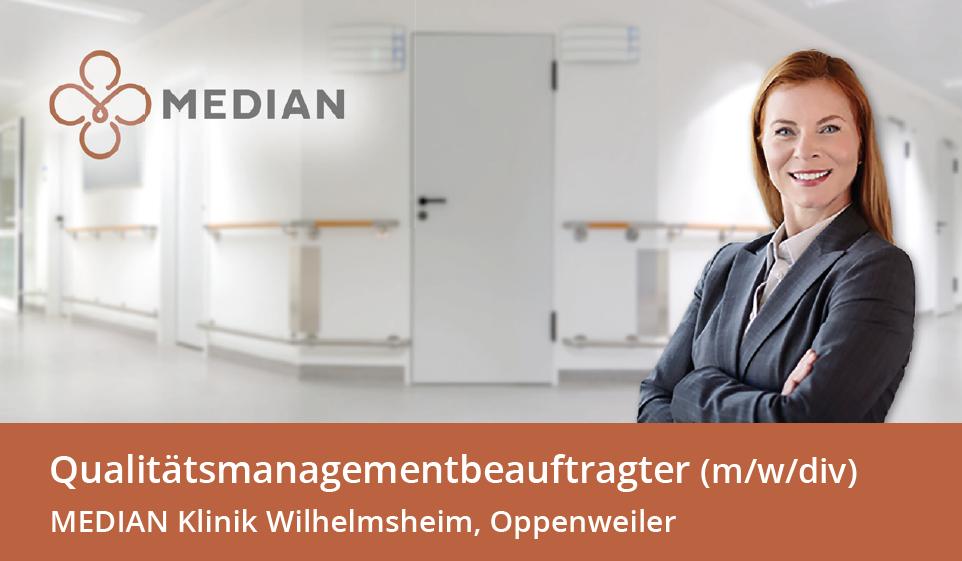 Stellenangebot Qualitätsmanagementbeauftragter der MEDIAN Klinik Wilhelmsheim