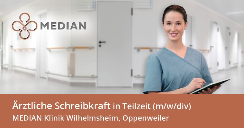 Stellenangebot als Schreibkraft in der MEDIAN Klinik Wilhelmsheim