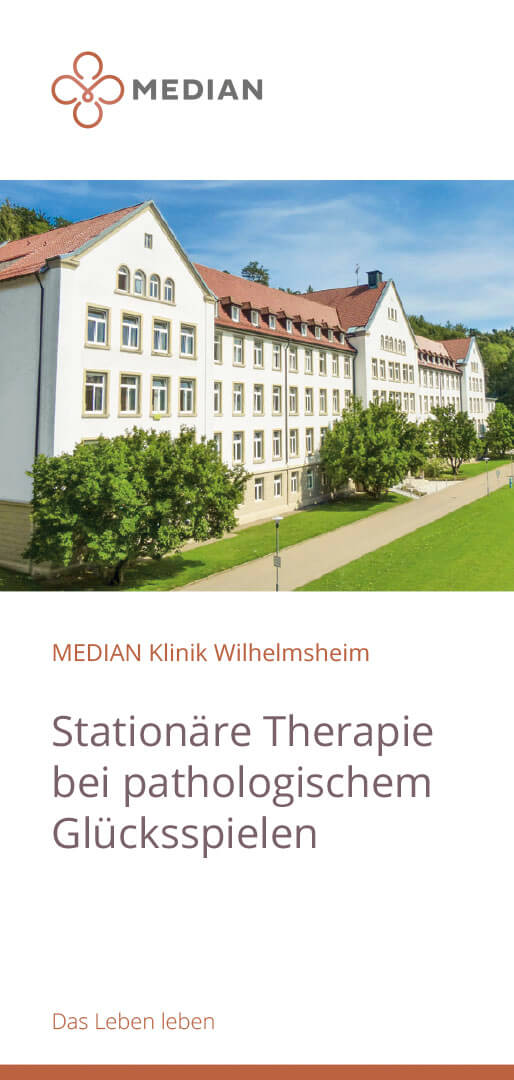 Infobroschüre Pathologisches Glücksspiel der MEDIAN Klinik Wilhelmsheim