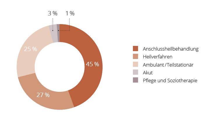 Diagramm Leistungsverteilung der MEDIAN Kliniken