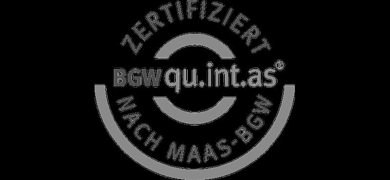 BGWquintas-Zertifikat für die MEDIAN Klinik Schlangenbad