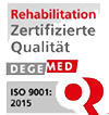 Degemed Qualitätszertifikat für die MEDIAN Klinik Mühlengrund Bad Wildungen