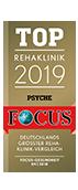 Ausgezeichnung des Focus 2019 top Rehaklinik