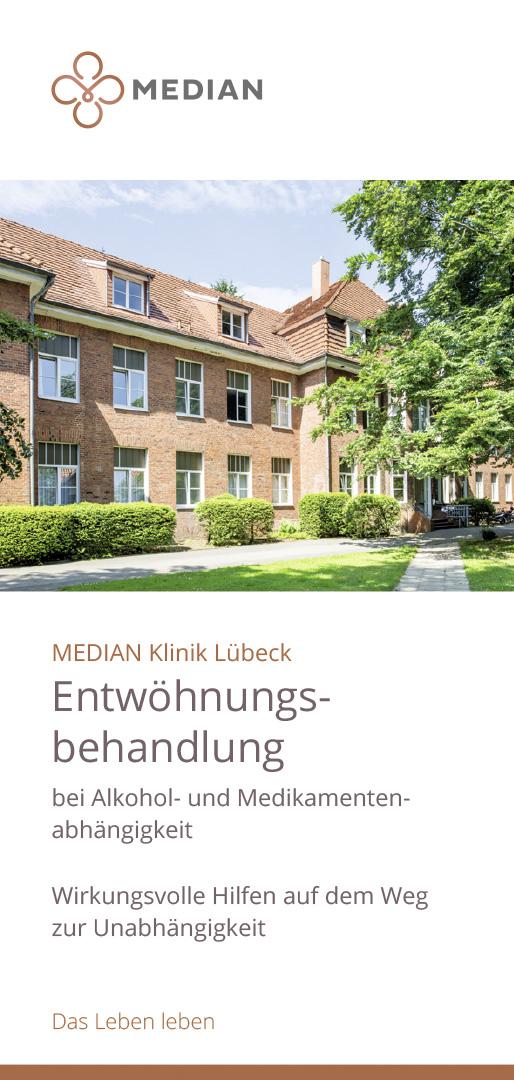 Infoflyer zu Entwöhnungsbehandlungen in der MEDIAN Klinik Lübeck