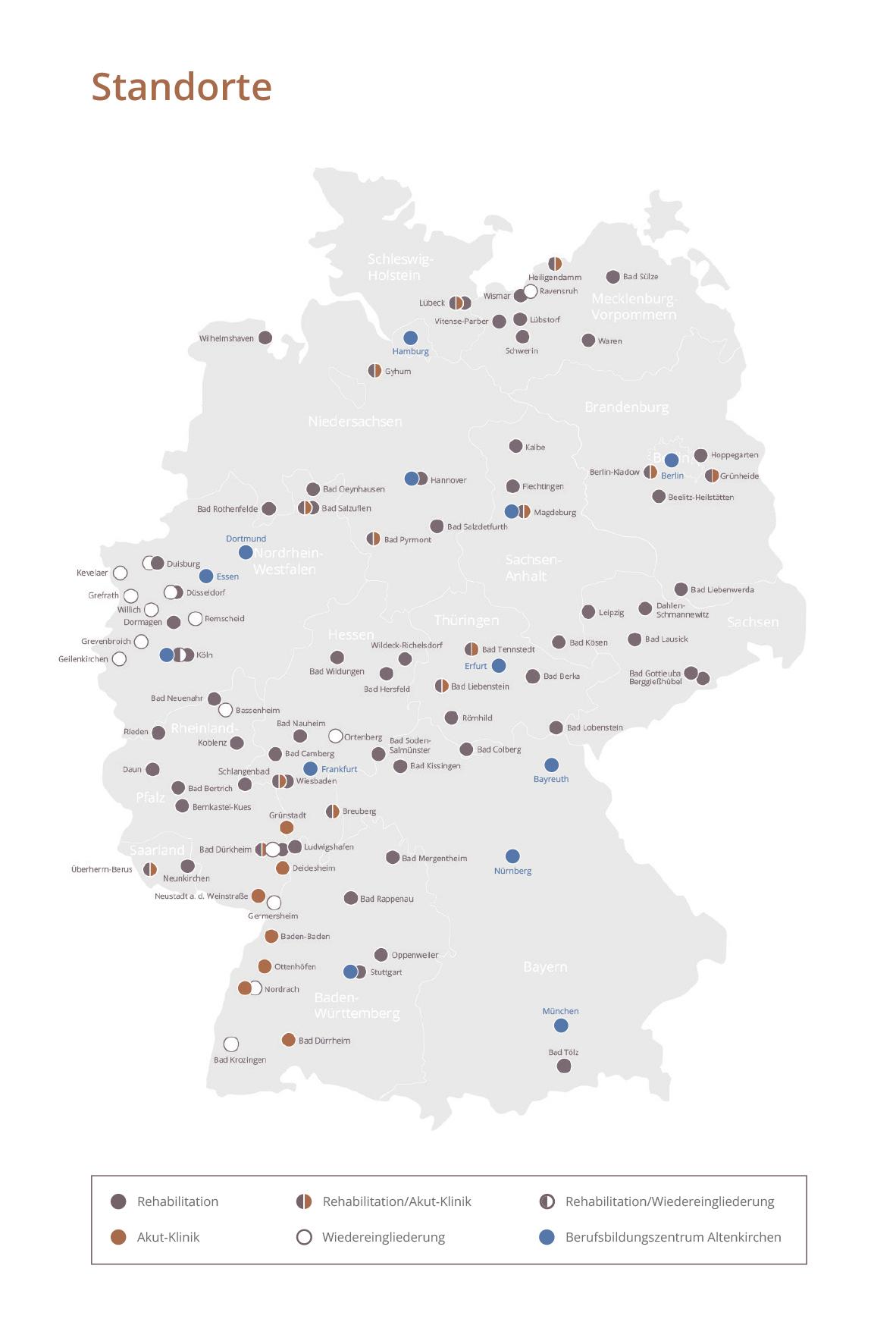 Alle MEDIAN Standorte auf der Karte