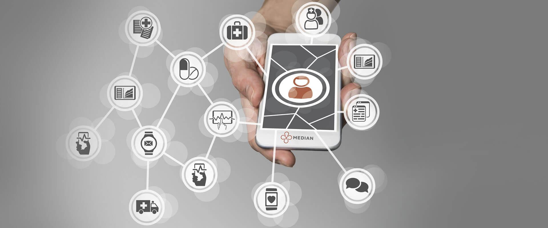 Verbindung Smartphone: Wissenschaftsforum der MEDIAN Kliniken